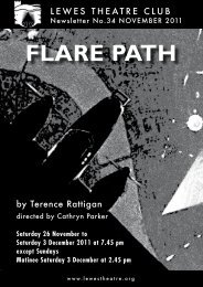 November 2011: Flare Path - Lewes Little Theatre