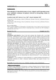 Determination of microbial agents of acne vulgaris and ...