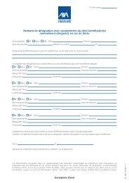Avenant de désignation avec coordonnées du (des) bénéficiaire(s ...