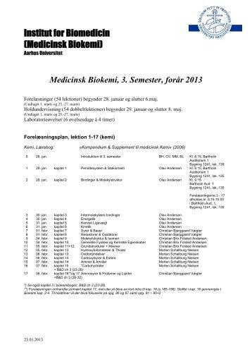 Medicinsk Biokemi, 3. Semester, forår 2013 - For Studerende ...