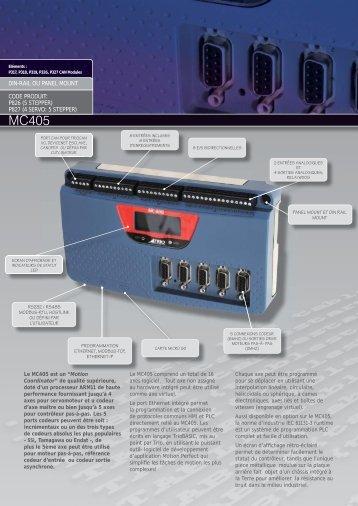 mc405 datasheet FRENCH v2.indd - Trio Motion Technology