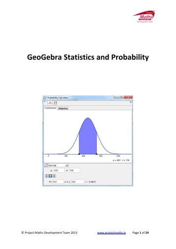 Using Geogebra for Probability & Statistics - Project Maths