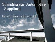 Scandinavian Automotive Suppliers - Shippax