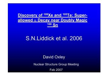 Super- allowed - Nuclear Physics - University of Liverpool