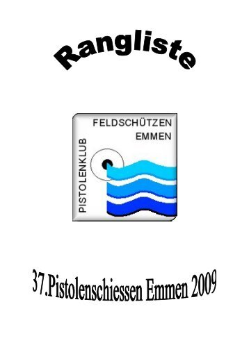 Rangliste 2009