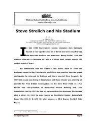 Steve Strelich and his Stadium - Gilbertgia.com