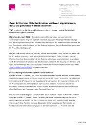 Presseinformation als PDF - TNS Infratest