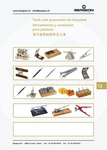 Tools and accessories for bracelets Herramientas y ... - Bergeon SA
