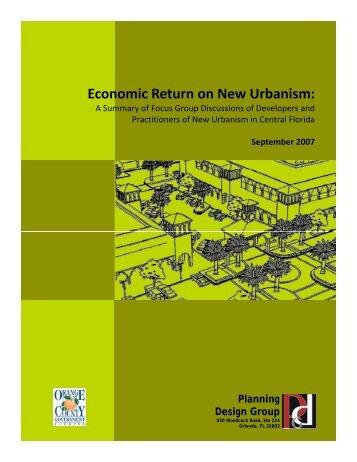 Economic Return on New Urbanism: - Planning Design Group