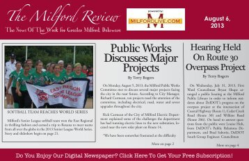 Public Works Discusses Major Projects - Milford LIVE!