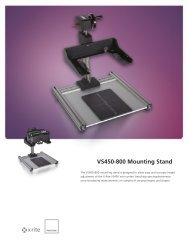 VS450 Brochure Mounting Stand (L10-409) - X-Rite