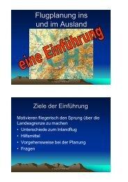 Flugplanung ins und im Ausland Handout - Flugplatz Birrfeld