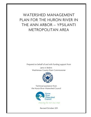 Watershed Management Plan - Huron River Watershed Council