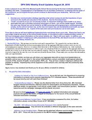 DPH SHU Weekly Email Updates August 24, 2010