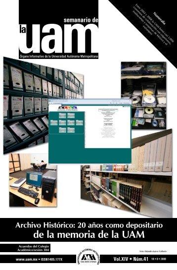 Archivo Histórico: 20 años como depositario de la memoria de la UAM