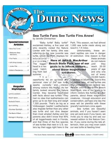 Fall Dune News 8x11 - John D. MacArthur Beach State Park