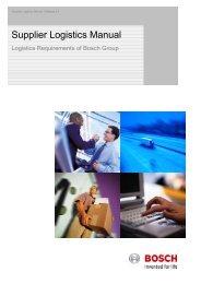 Supplier Logistics Manual
