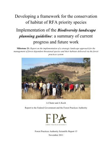 Biodiversity landscape planning guideline - The Forest Practices ...