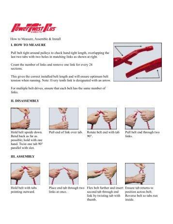 Power Twist Drive Belt Instructions - Highland Woodworking