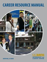 career resource manual - UC Davis / Internship and Career Center