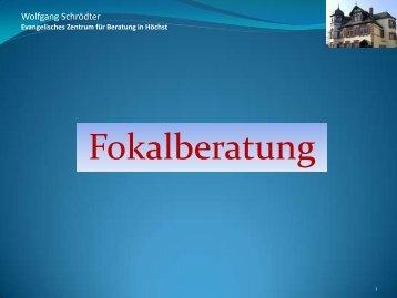 "Projekt ""Konfliktregulierende Beratung"" (KrB)"" - Wolfgang Schrödter"