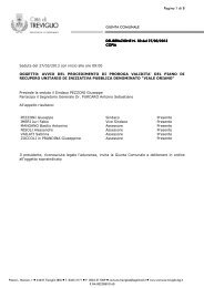 Delibera GIunta Comunale Avvio del procedimento - Comune di ...