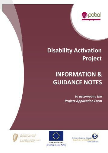 Disability Activation Project INFORMATION ... - Welfare.ie