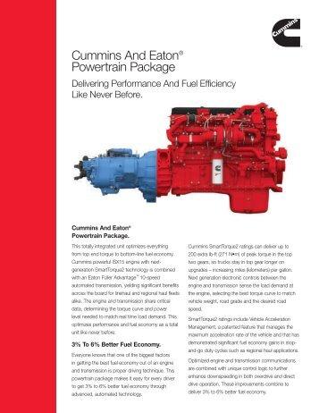 Cummins And Eaton® Powertrain Package - Cummins Engines