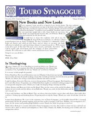 Draft November Bulletin 2010.indd - Touro Synagogue