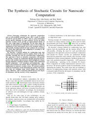 The Synthesis of Stochastic Circuits for Nanoscale Computation*