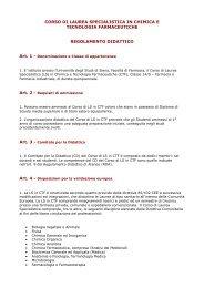 Chimica e tecnologia farmaceutiche - Unisi.it - Università degli Studi ...