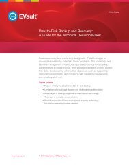 Disk-to-Disk Backup and Recovery: A Guide for the Technical ...