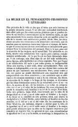 LA MUJER EN EL PENSAMIENTO FILOSÓFICO Y LITERARIO