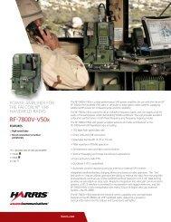RF-6010 FALCON II Tactical Network Access Hub - Harris RF