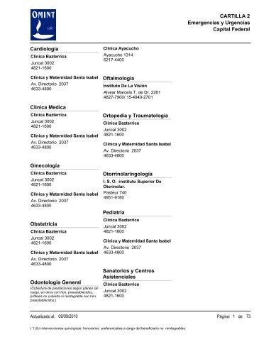 Capital Federal CARTILLA 2 Emergencias y Urgencias ... - Ameport