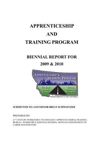 Apprenticeship Training Program - Workforce Services Division