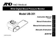 Wrist Digital Blood Pressure Monitor Model UB-351 Instruction ...