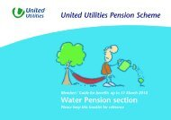 Water Pension Section - About United Utilities