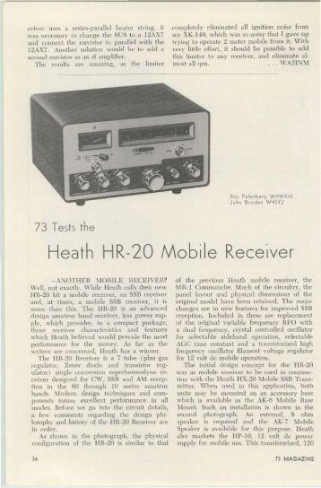 The Heathkit HR-20 - Nostalgic Kits Central