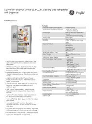 GE Profile™ ENERGY STAR® 25.9 Cu. Ft. Side-by ... - US Appliance
