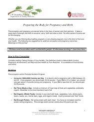 Preparing the Body for Pregnancy and Birth - UW Family Medicine ...