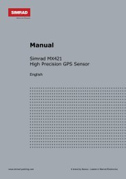 Manual - SIMRAD Professional Series | Marine Electronics - Simrad ...