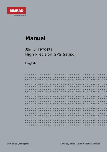 Manual - SIMRAD Professional Series   Marine Electronics - Simrad ...