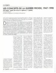 les concepts de la guerre froide, 1947-1990 - Société des ...