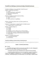 Forskrift om tildeling av kommunal bolig i Arendal kommune