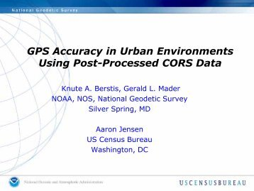 GPS Accuracy in Urban Environments Using Post-Processed CORS ...
