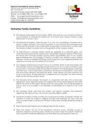 Homestay guidelines for host families - German International School ...