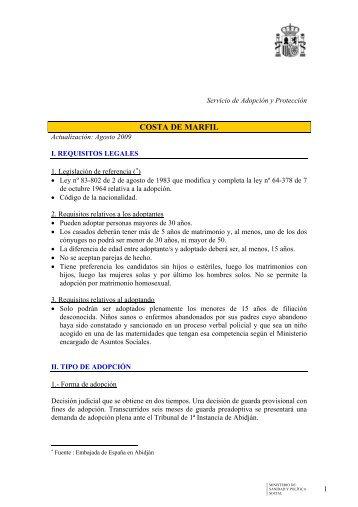 COSTA DE MARFIL - Ministerio de Sanidad y Política Social