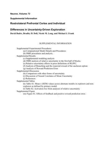 Supp PDF - Michael Frank
