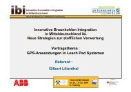 Referent : Gilbert Lilienthal Innovative Braunkohlen Integration in - ibi